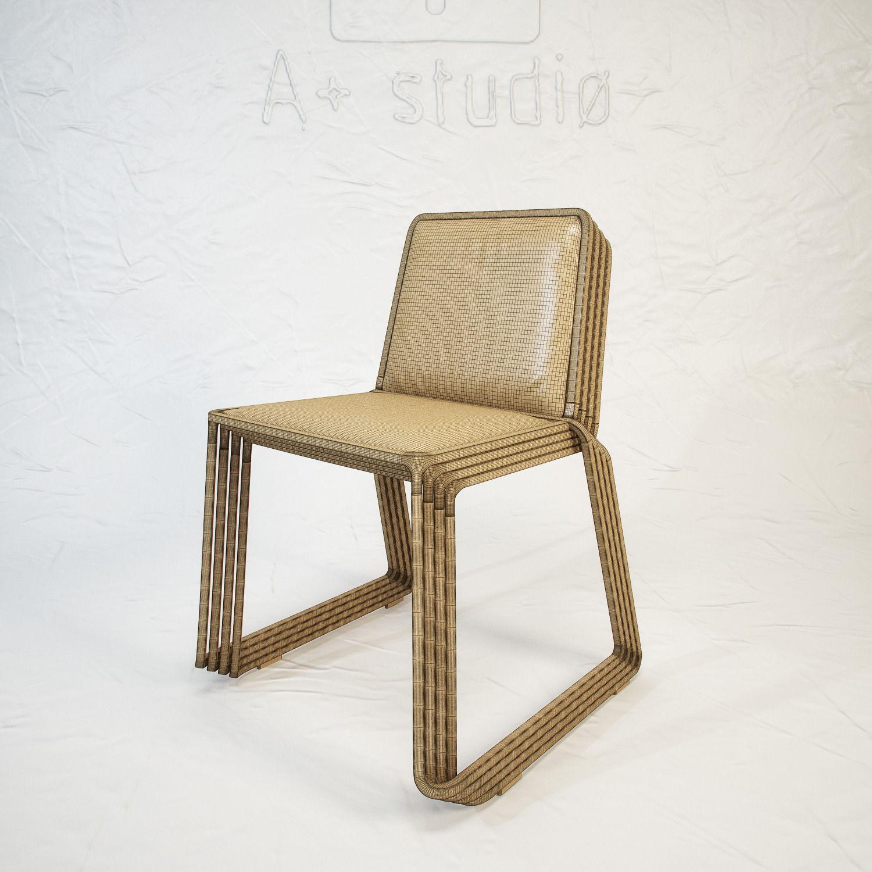 Poltrona frau ring chair by lagranja 3d model max obj fbx for Poltrona 3d