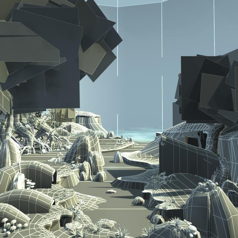 Exterior: Cartoon River Scene 3D Model MAX TGA