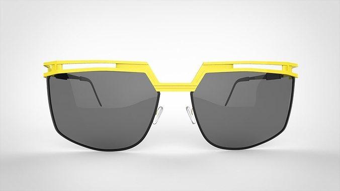 sun glass 3d model max obj mtl fbx 1