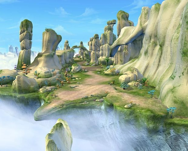 Exterior: Cartoon Valley Scene 3D Model