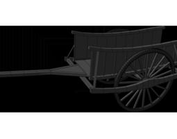 Ox Cart Low Poly 3D asset