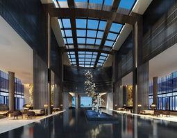 Lobby 3d model hotel-lobby