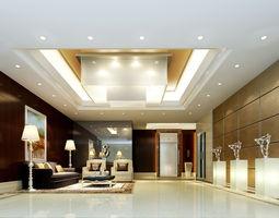 Lobby 3D model hotel-lobby lobby