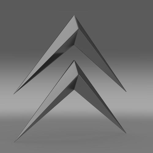 Itroen Old Logo 3d Model Max Obj 3ds Fbx C4d Lwo Lw Lws
