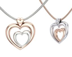 Double Heart pendant 3D printable model