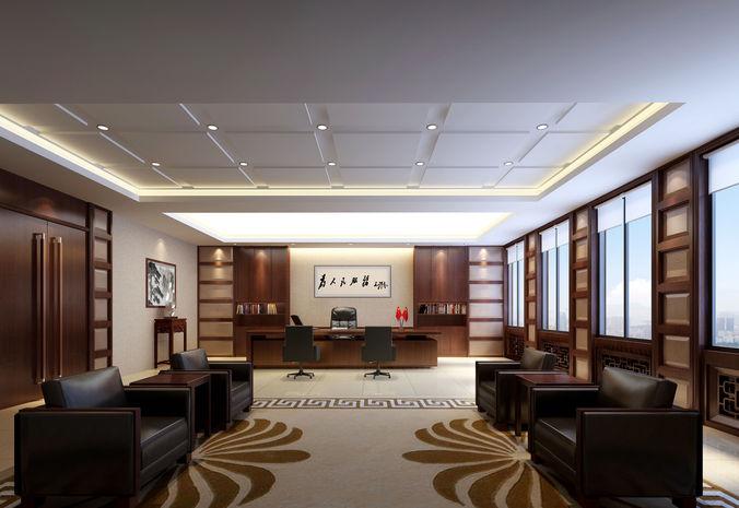 office 3d model max 1