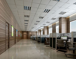 3D model textured interior Office
