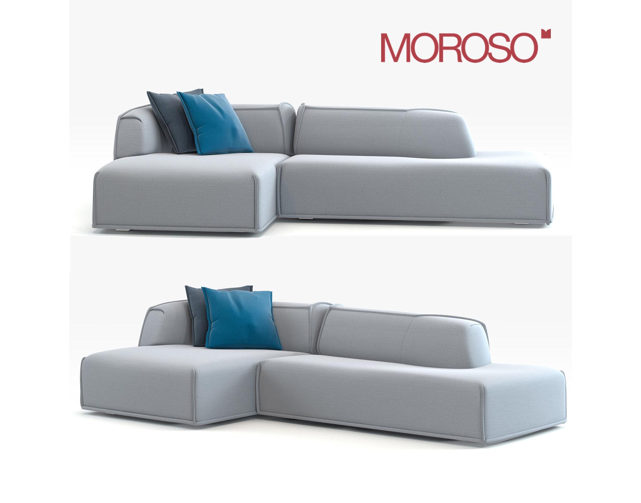 Modern Couch Moroso Mas Model Max Obj Mtl Fbx 1