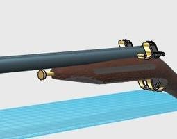 3D asset Pirate Shotgun