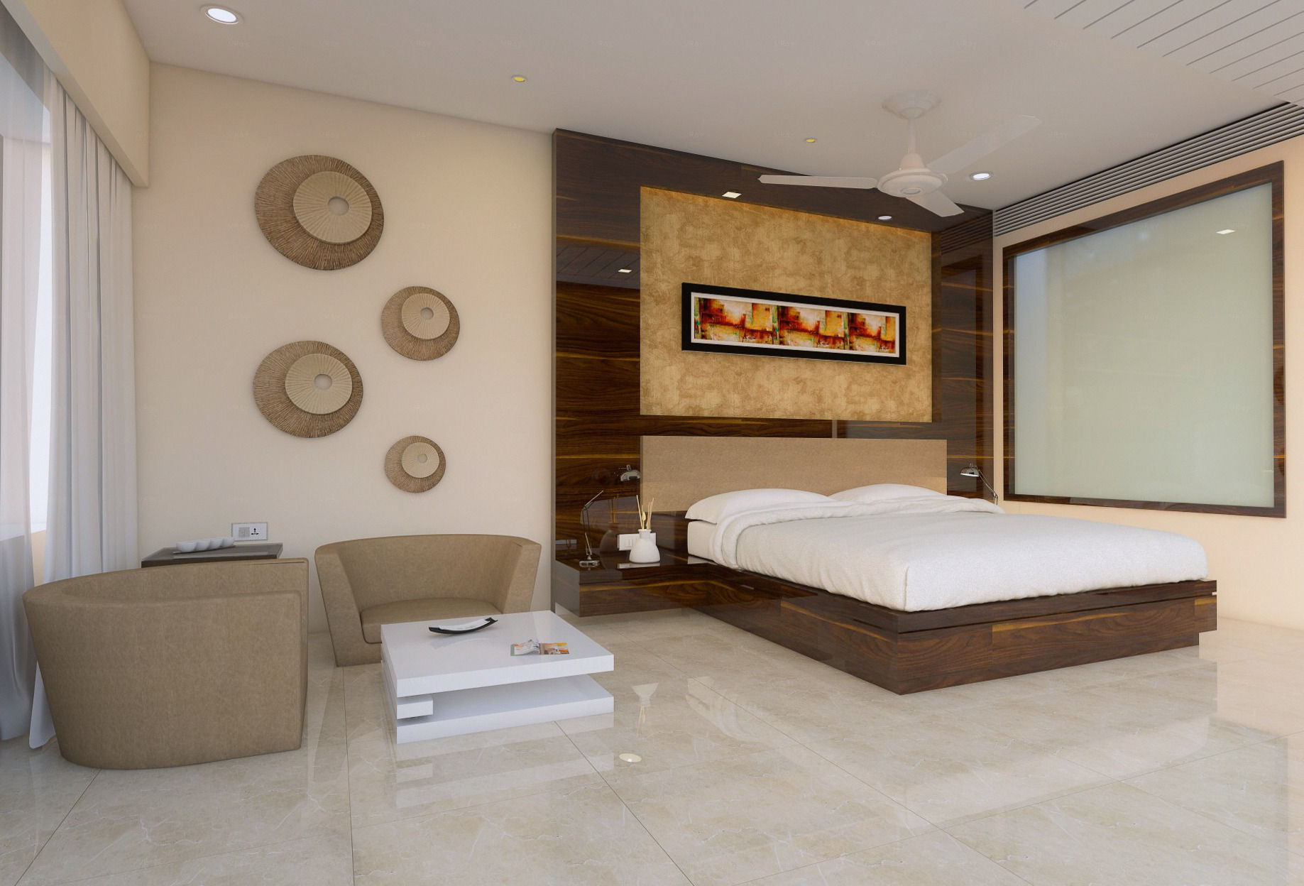 hotel bedroom 3d interior view 3d model skp 1 ...