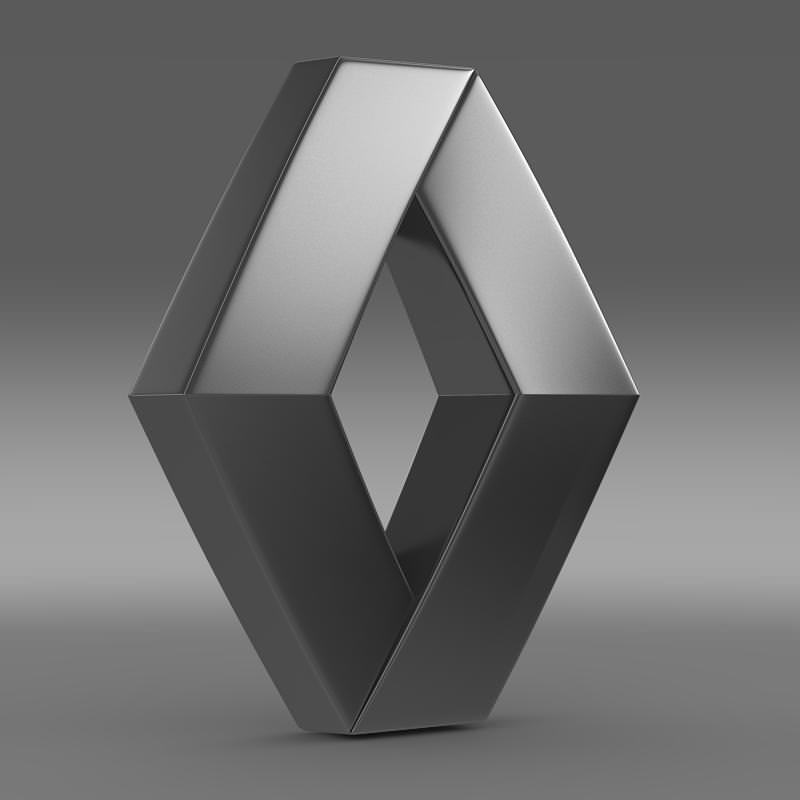 Renault Logo: Renault Logo 3D Model MAX OBJ 3DS FBX C4D LWO LW LWS