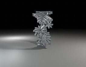 hungarian folk motiv ring 3D print model