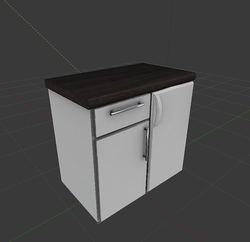 Freezer with cabinet component 3D model | CGTrader