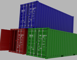 container 3D transportation