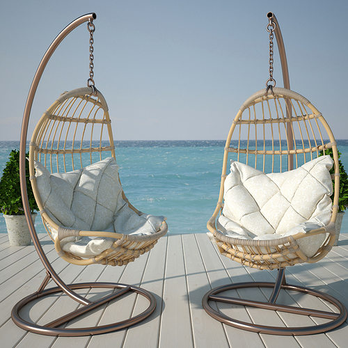 Architect 3d Garden And Exterior 20: 3D Model Hanging Chair
