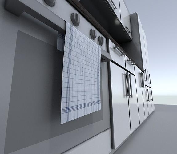 kitchen module 3d model low-poly obj mtl fbx dxf blend dae 1