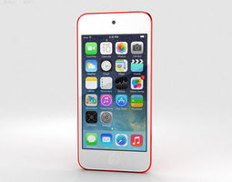 3D Apple iPod Touch Red