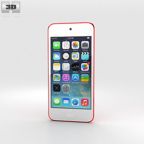 3d apple ipod touch red cgtrader. Black Bedroom Furniture Sets. Home Design Ideas