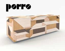 Modern Cupboard Sideboard Inlay Porro 3D