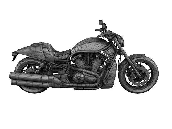 Harley-Davidson V-Rod Night Rod Special 2013 3D model MAX OBJ 3DS ...