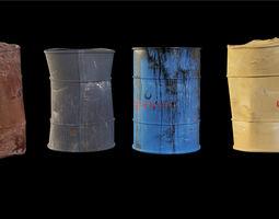 Barrels pack 3D model