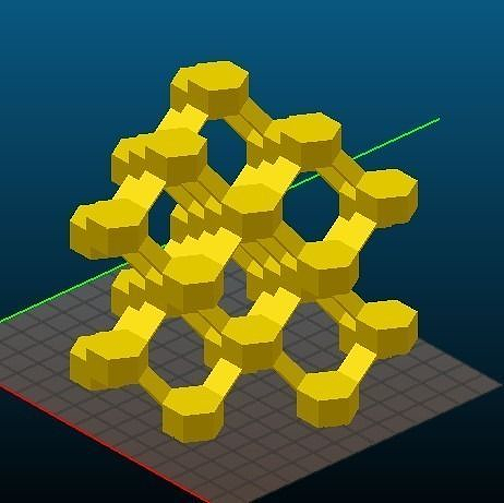 cha-type zeolite 3d model obj mtl stl 1