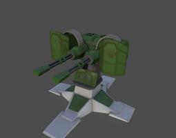 PBR gatling gun 3d model game-ready