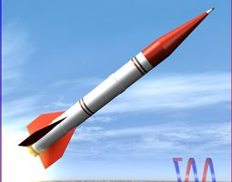 3d model VR / AR ready shahin ii rocket