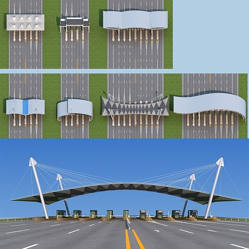 highway toll station 3d model max obj mtl fbx 1