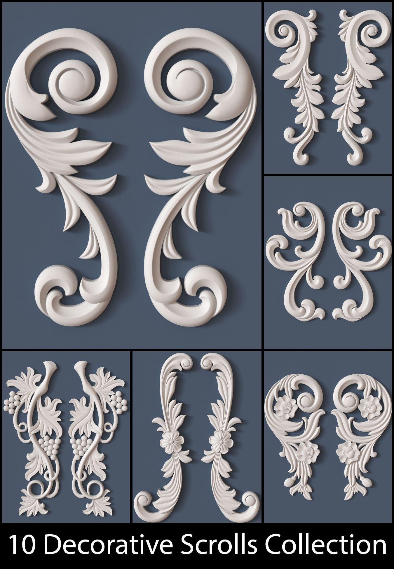 10 Decorative Scrolls Collection