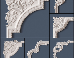 10 Molding Corners Collection 3D