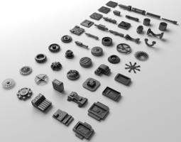 3D asset Technical parts collection 2
