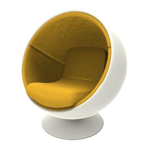 ball chair 3d model fbx ma mb 1