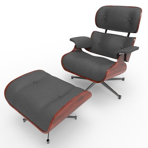 3d asset eames lounge chair cgtrader