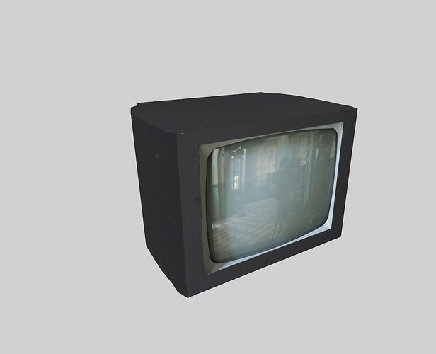 Low Poly Television 3d Model Obj 3ds Fbx Blend Dae 1