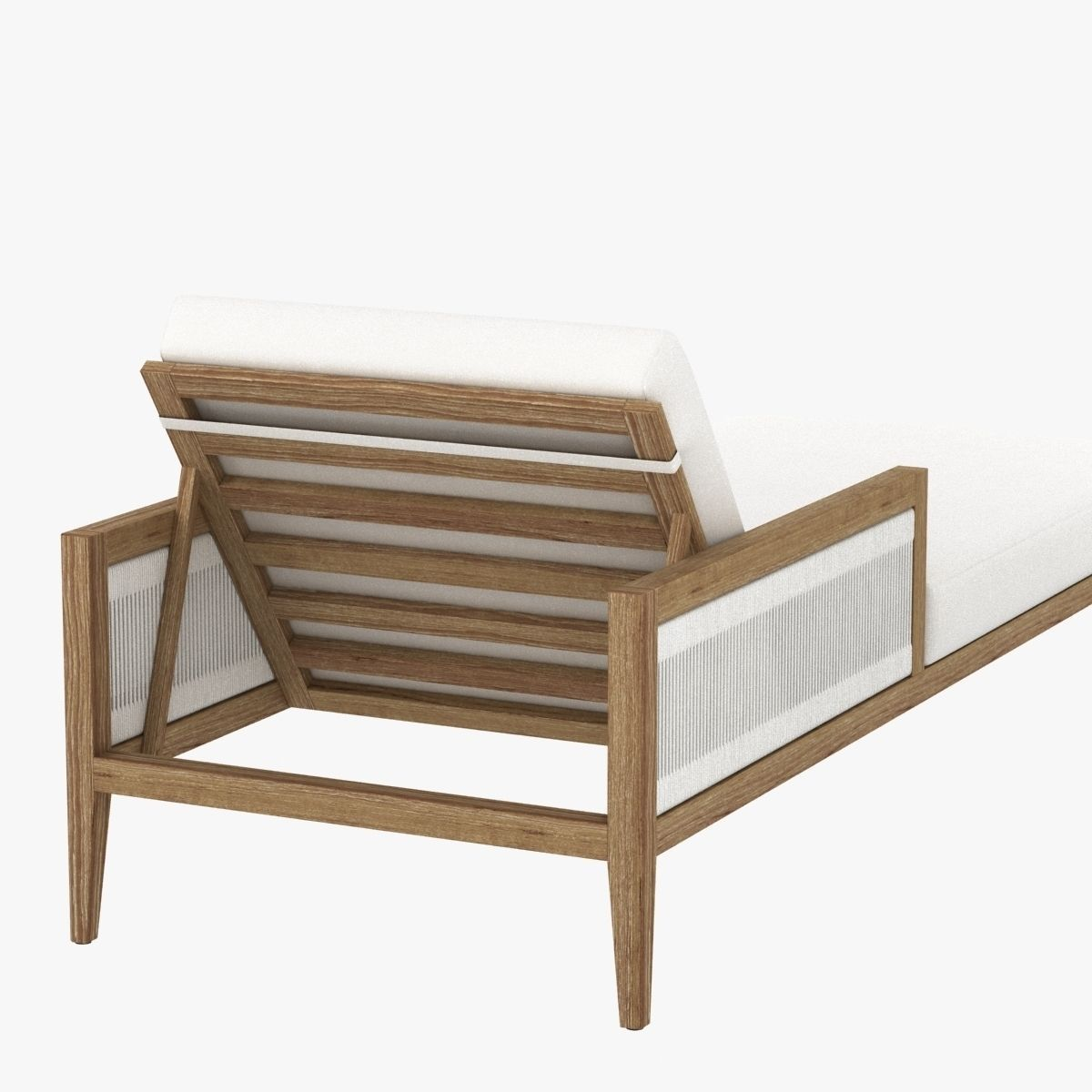 Brizo chaise lounge with cushions by porta forma 3d model for Chaise modele