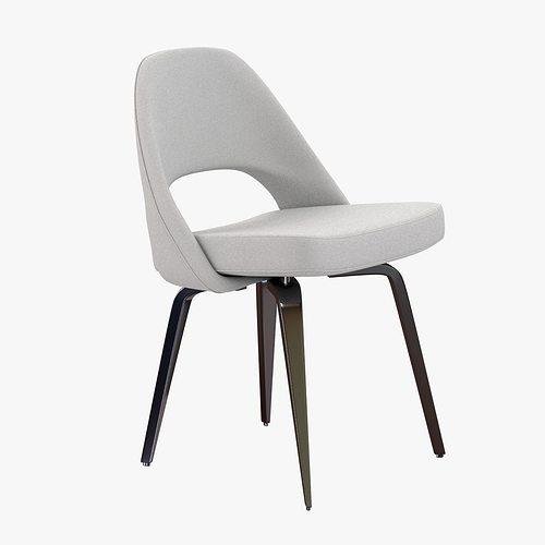 Saarinen Executive Side Chair 3d Model Max Obj 3ds Fbx Mtl 1 ...