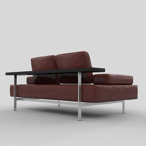 Sofa rolf benz dono 3d model max for Benz couch