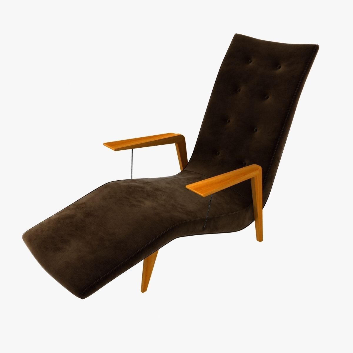 Chaise lounge by joaquin tenreiro 3d model max obj 3ds fbx for Chaise snack