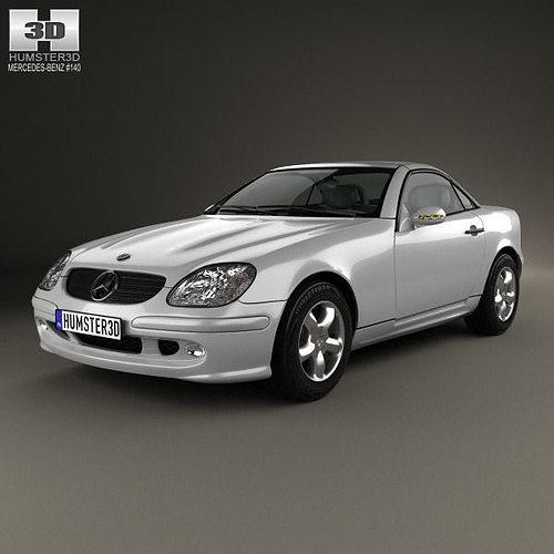 Mercedes benz slk class 2000 3d cgtrader for Mercedes benz 2000 models