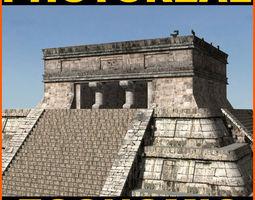 photoreal mayan temple - 3d model