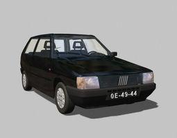 FIAT UNO - 3d model commuter