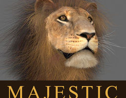 animated MAjestic Lion - 3d model