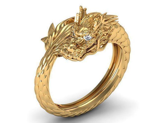 Dragon Ring Round 3d Print Model Cgtrader