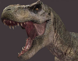 The CINEMA T Rex - 3d model animated