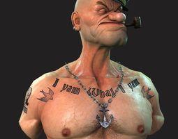Popeye the Sailor 3D asset