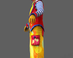 3D asset Clown