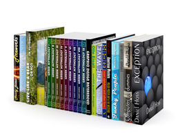 3d model books set 01