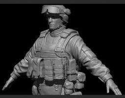 High res Soldier Model 1 3D Model