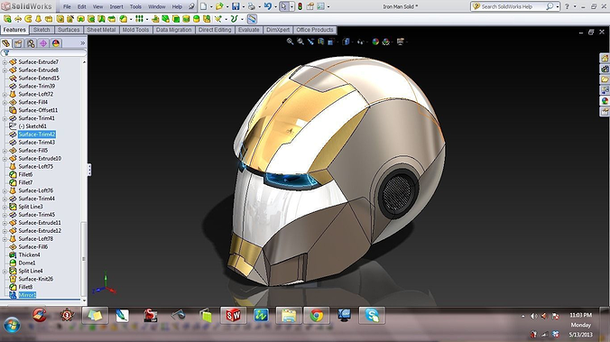 3d Model Iron Man Mask Cgtrader